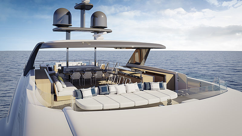 Benetti Diamond 145 exterior design