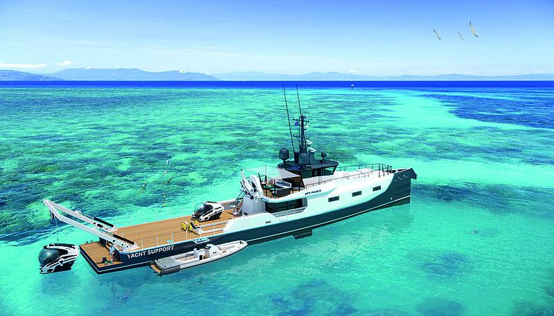 Damen YS4508 Joy Rider yacht renders