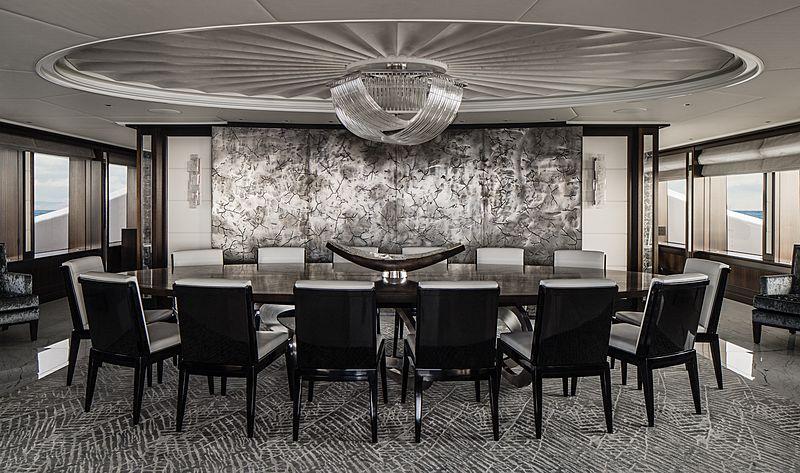 Aquila yacht main dining room