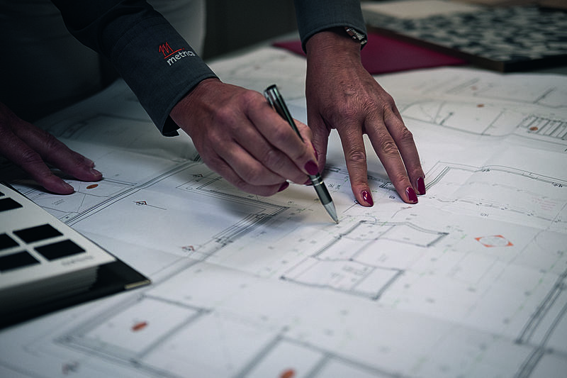 metrica interior outfitters construction plan