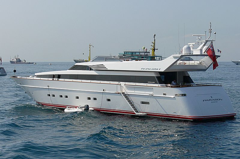 Paragon yacht anchored off Cannes