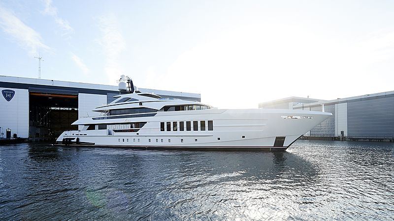 Heesen motor yacht Vida launch in Oss
