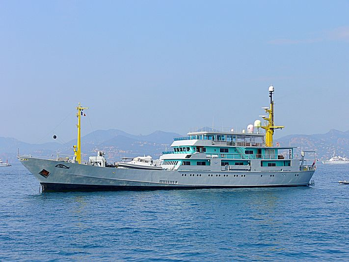 Amazon Express yacht anchored off Cannes during the Film Festival