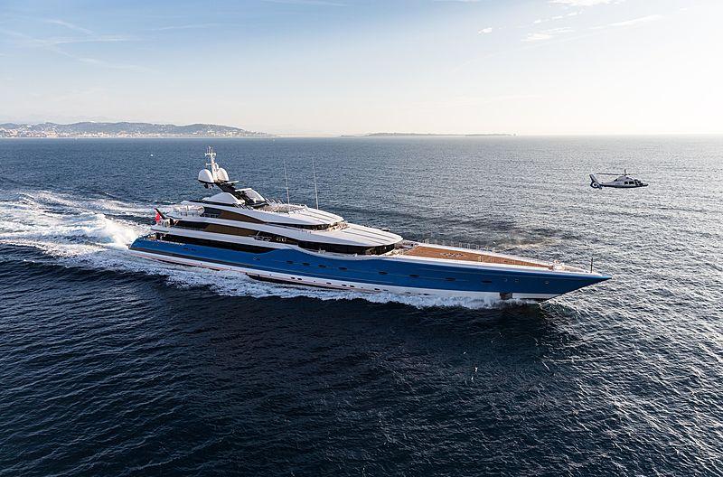 Madame Gu yacht aerial