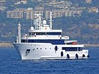 Tribu yacht arriving at the 2007 Monaco Yacht Show