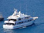 Halcyon Days yacht leaving Port Hercule