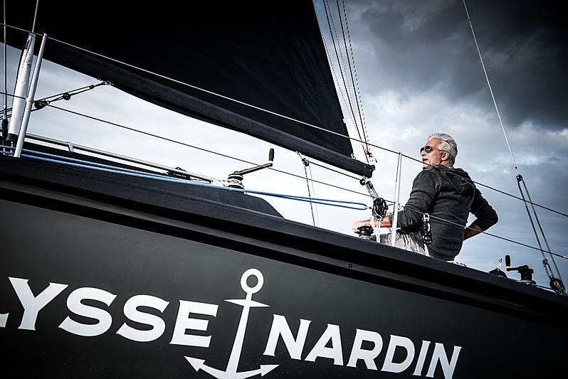 Dan Lenard with sailing yacht SCIA