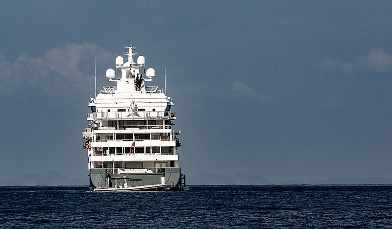 Yacht Andromeda near Phuket Island, Indonesia