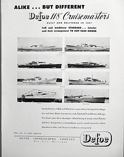 Defoe Cruisemaster ad