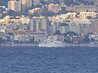 Barbara Jean yacht far off the Airport of Nice