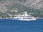 Hampshire yacht anchored off St. Jean Cap Ferrat