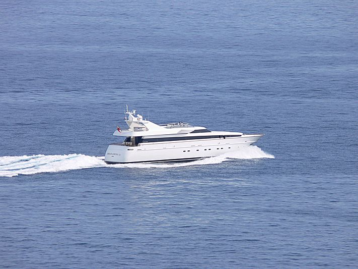Param Jamuna III yacht leaving Monaco