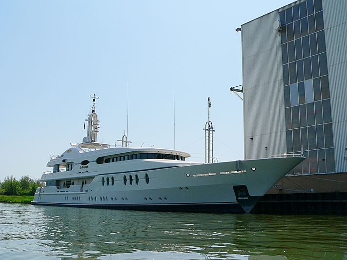 La Masquerade yacht at Amels Yard