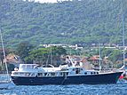 Bystander yacht anchored in Golfe de Saint-Tropez