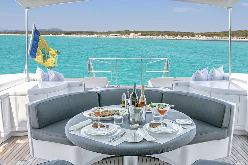 Four Friends yacht aft deck