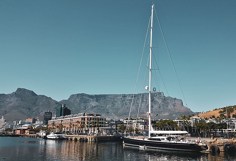 Yacht Sea Eagle in Cape Town harbour