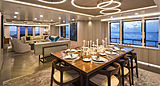 Broadwater yacht dining room