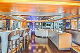 Serenity yacht bar and saloon