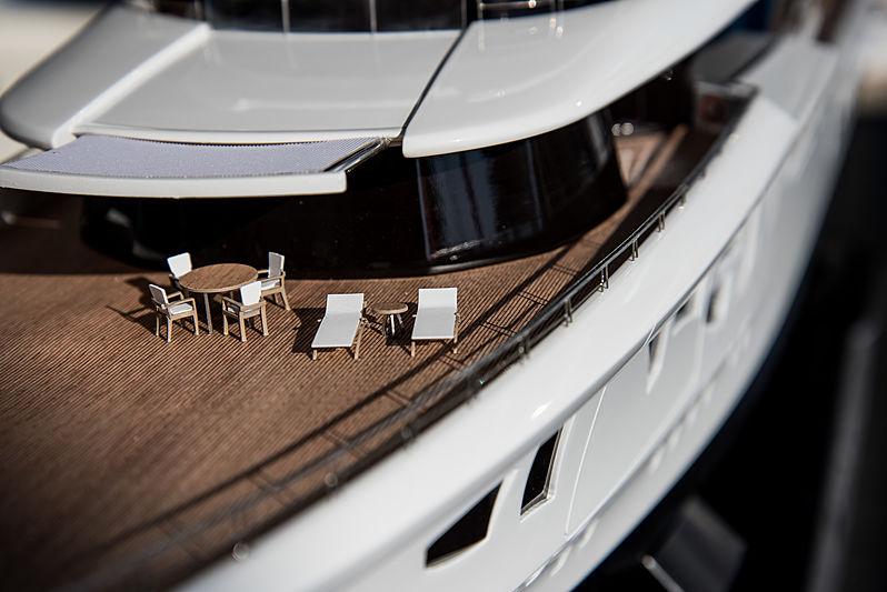 Model of Artefact yacht