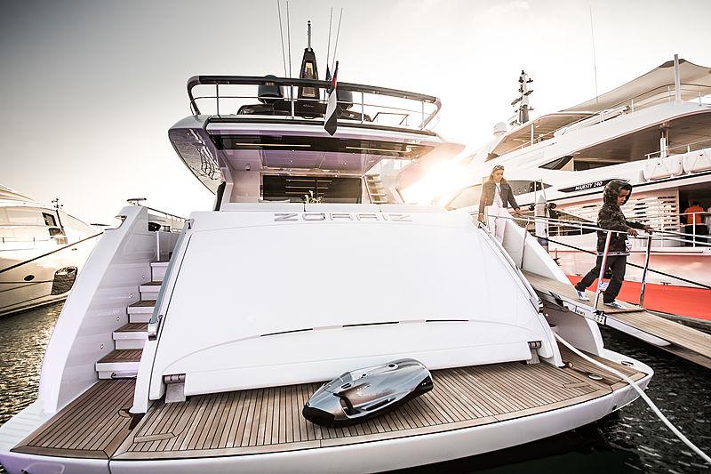 Riva 100 Corsaro Zoraiz at the Dubai International Boat Show 2019