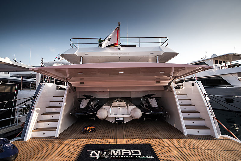Nomad 95S yacht at the Dubai International Boat Show 2019