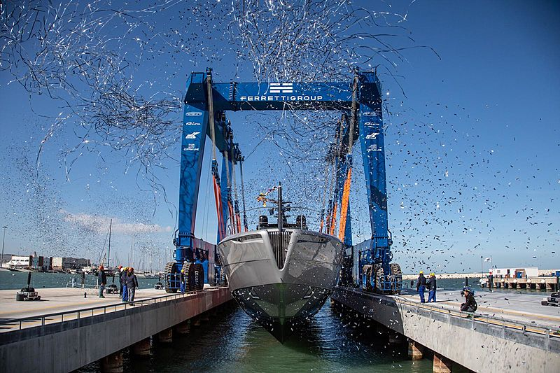 Pershing 140 yacht launched in Ancona