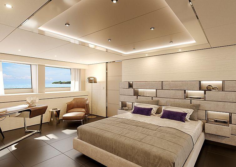 Columbus sport 50M yacht interior rendering