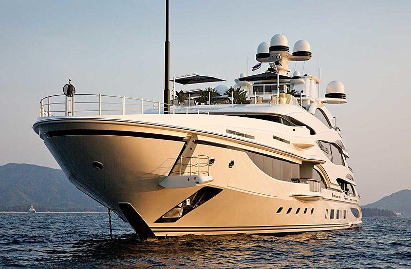 Lionheart yacht anchored off Phuket