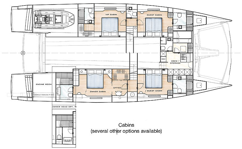 Silent 80 yacht layout