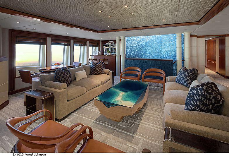 Lazy Z yacht upper deck saloon
