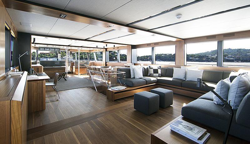 Wally Ace yacht saloon