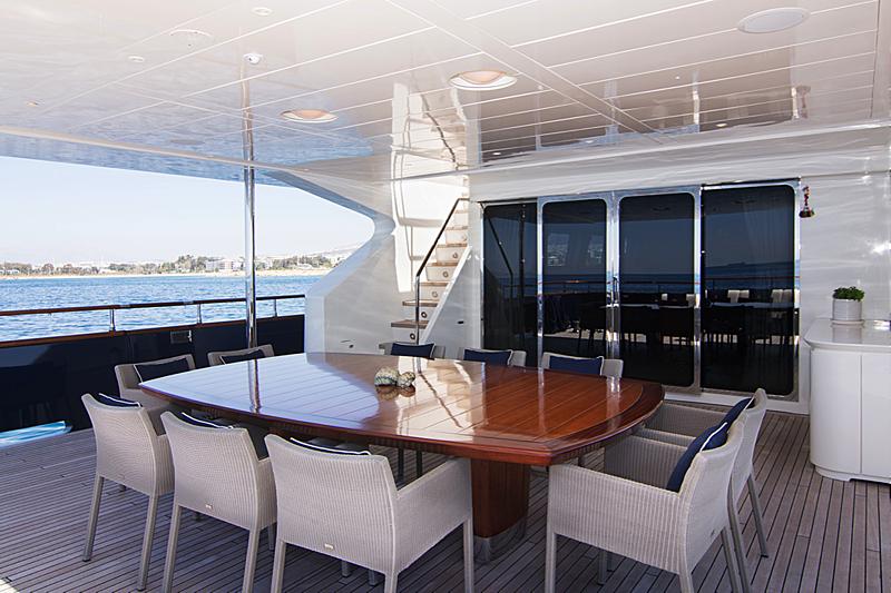 Condor A yacht aft deck