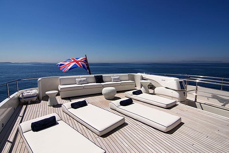 Condor A yacht sun deck