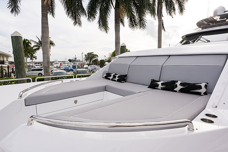 Hat Trick yacht foredeck