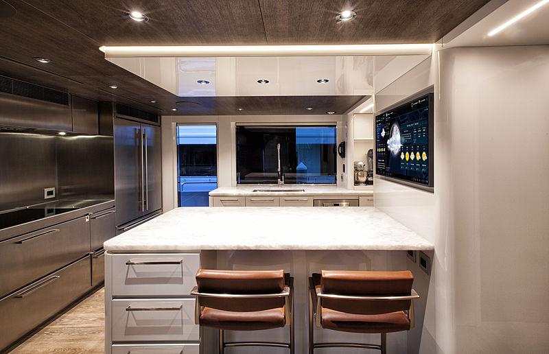 Pepper XIII yacht kitchen