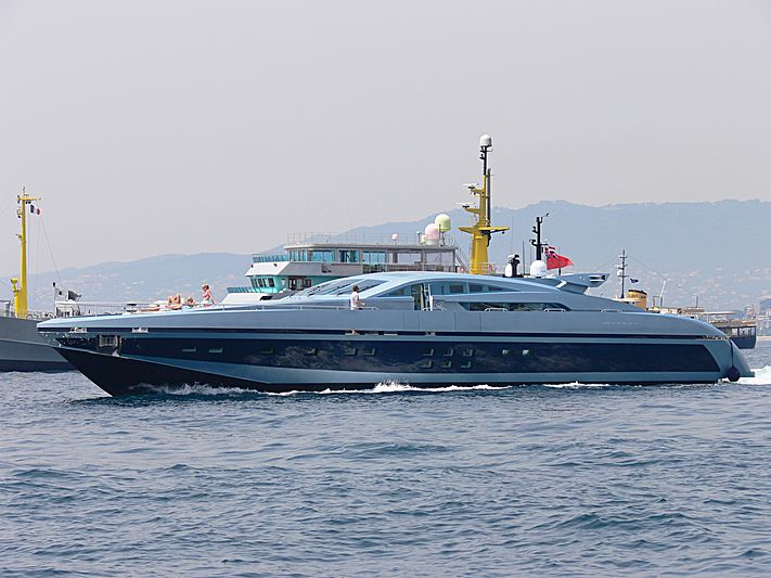 Blue Princess Star yacht cruising off Cannes