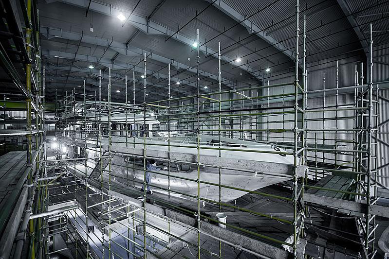 Majesty 175 yacht in-build forward