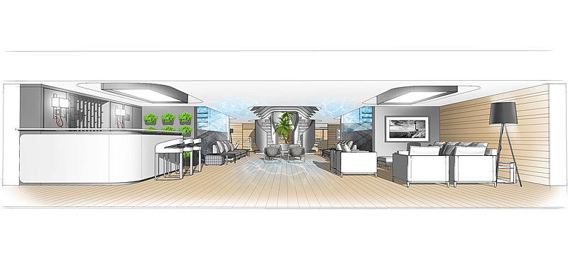 Oniric yacht interior concept