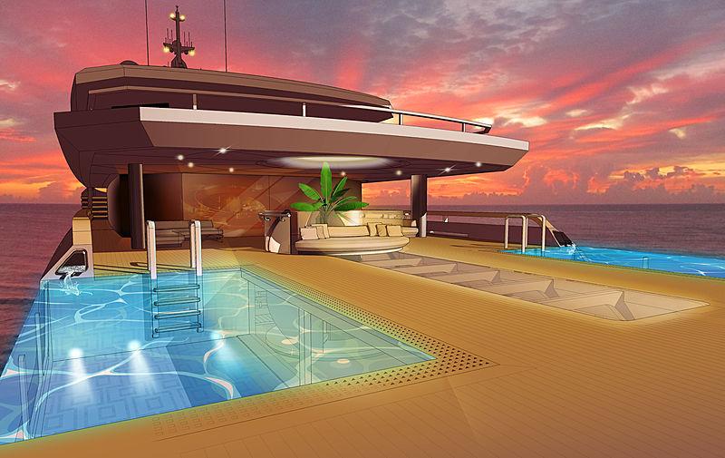 Oniric yacht deck concept