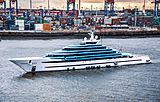 Yacht Jubilee by Oceanco arriving in Hamburg