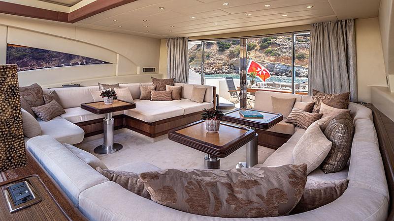 Cosmos I yacht saloon
