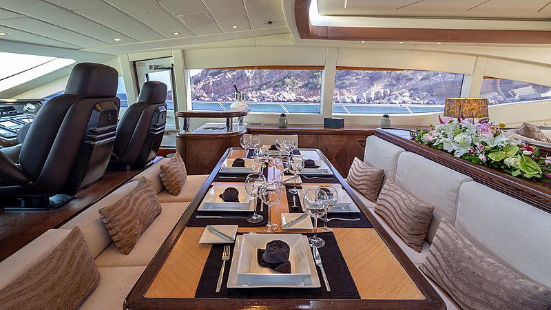 Cosmos I yacht dining area