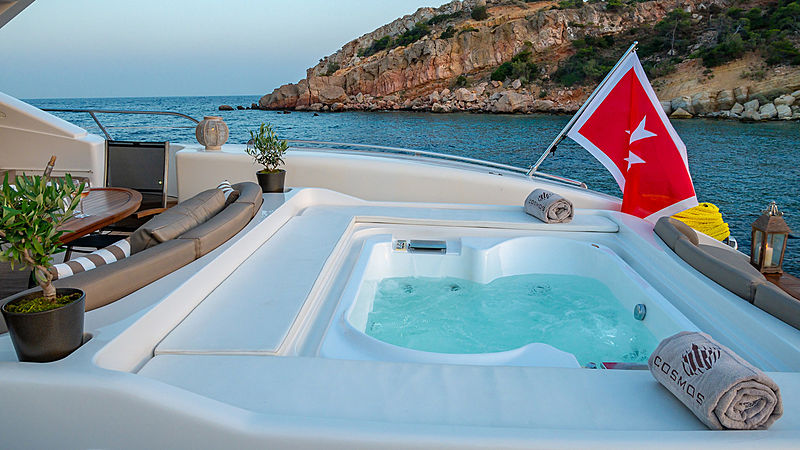 Cosmos I yacht aft deck jacuzzi