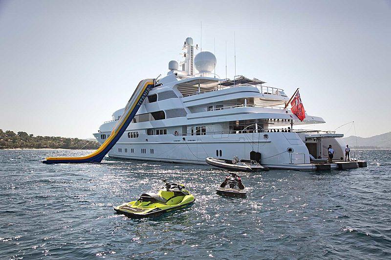 Titania yacht with toys
