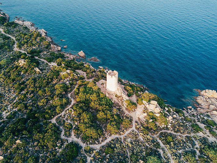 Corsica France aerial shot