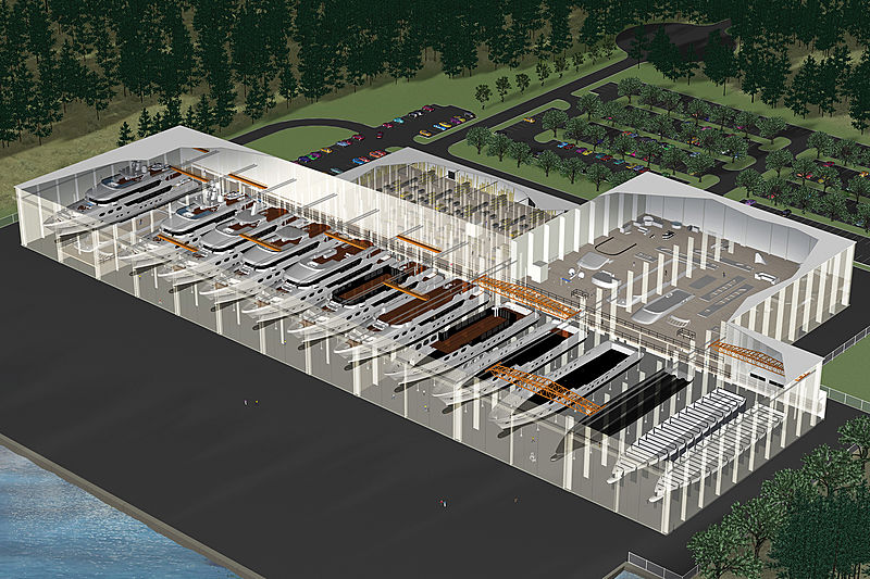 Christensen Shipyards new facility in Tellico Lake Tennessee