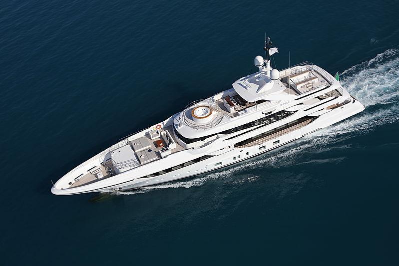 Seven yacht cruising