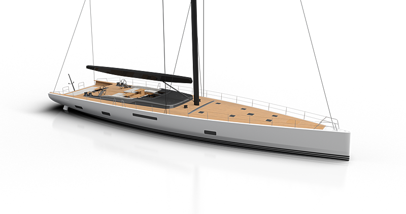 Cefea sailing yacht exterior design