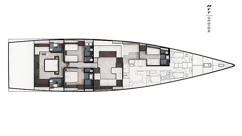 Cefea sailing yacht layout