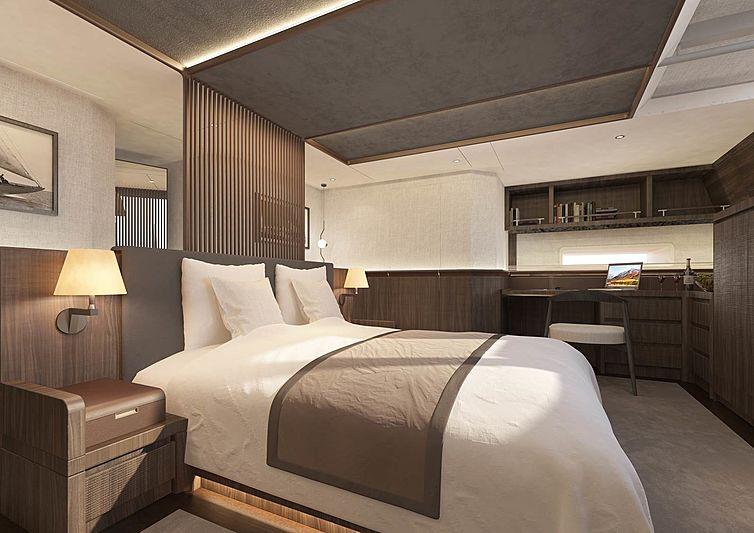 Cefea sailing yacht stateroom